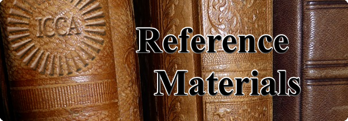 ICCA Reference Materials Banner